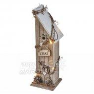 Vianočná dekorácia DOMČEK drevený s ...