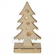 Vianočná dekorácia STROMČEK drevený ...
