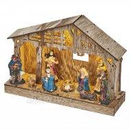 Vianočná dekorácia BETLEHEM s časovačom 5LED IP20 2xAA teplá biela
