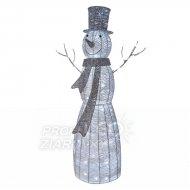 Vianočná dekorácia snehuliak s časov...
