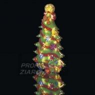 Vianočná dekorácia STROMČEK do okna s časovačom 20LED IP20 3xAA teplá biela