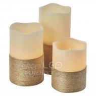 Voskové sviečky sada 3x1LED IP20 3xA...