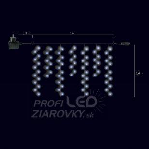 Vianočná LED svetelná záclona vonkajšia FLASH s časovačom - na spájanie - 400LED - 12M Teplá biela/Studená biela