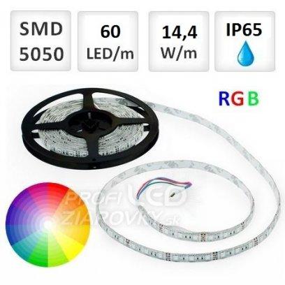 1M LED PÁSIK 60 SMD5050 14,4W RGB IP65