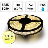 1M LED PÁSIK 30 SMD5050 7,2W TEPLÁ B...