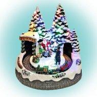 Dekorácia vianočná dedinka s fotogra...