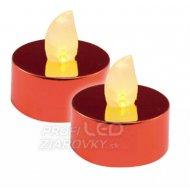 LED čajová sviečka, lesklá červená, ...