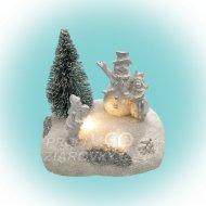 LED vianočná dekorácia na stôl, sneh...