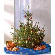 Vianočná deka pod stromček, modrá