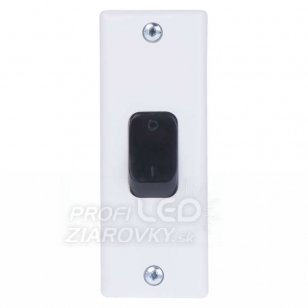 Vypínač zárubňový tesla 4fn57612, biely