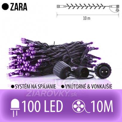 ZARA spojovateľná LED svetelná reťaz vonkajšia - 100LED - 10M Fialová