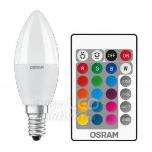 LED RGB žiarovka E14 5,5W 470lm OSRAM RGBW s ovládačom