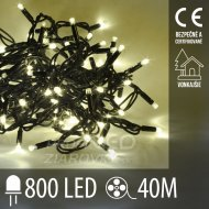 Vianočná led svetelná reťaz vonkajšia - 800led - 40m teplá biela