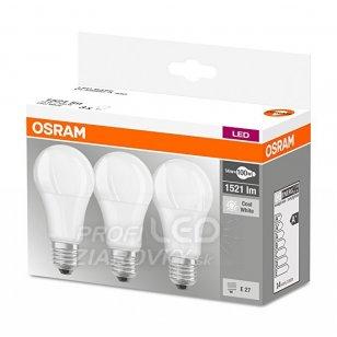 LED ŽIAROVKY E27 14W = 100W 1521lm OSRAM 4000K 3PAK