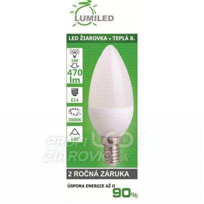 LED ŽIAROVKA  SMD28350 4,5W TEPLÁ E14 400LM