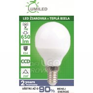 LED ŽIAROVKA E14 7W SMD2835 TEPLÁ BI...