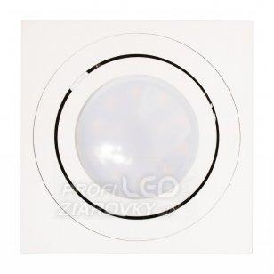 Podhľadové hranaté svietidlo biele amat-s 50mm