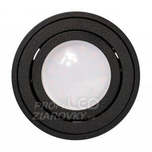 Podhľadové okrúhle svietidlo čierne AMAT-S 50mm