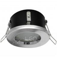 Podhľadové okrúhle svietidlo chróm AQUS GU10 IP44