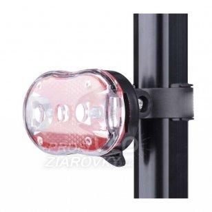Cyklosvietidlo 1W LED predné + 3x červené LED 5 mm (zadné)