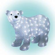 Dekorácia ľadový medveď, akryl, 42x5...