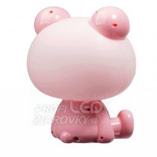 Detská nočná lampa led žabka polux, 2,5w - rúžová
