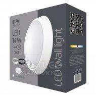 LED prisadené svietidlo s PIR, kruh čier./biela 14W neut. b.