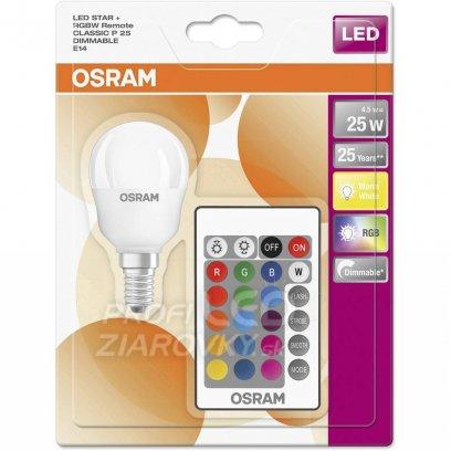 LED RGB žiarovka E14 OSRAM s ovládačom, 4,5W
