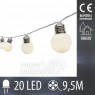 LED svetelná reťaz vonkajšia - tvar ...