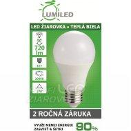 LED ŽIAROVKA E27 8W  SMD2835 TEPLÁ BIELA...