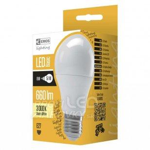 LED žiarovka A60 8W E27 teplá biela