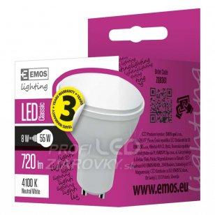 LED žiarovka Classic 8W GU10 neutrálna biela