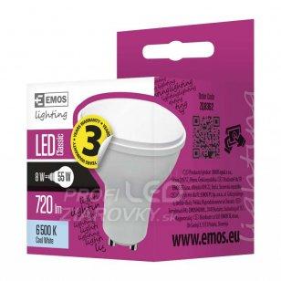 LED žiarovka Classic 8W GU10 studená biela