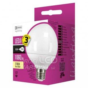 LED žiarovka Classic globe 11,5W E27 teplá biela
