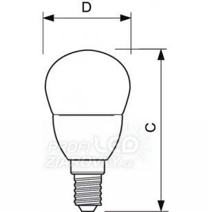 LED žiarovka PHILIPS E14 5,5W Teplá biela