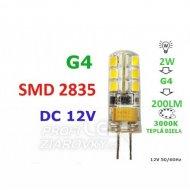 LED ŽIAROVKA G4  2W 24SMD 2835 TEPLÁ...