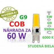 LED ŽIAROVKA G9 COB 5W STUDENÁ BIELA 550LM