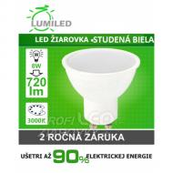 LED ŽIAROVKA GU10 SMD 2835 8W STUDENÁ BIELA...