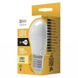 LED žiarovka VALUE mini globe 3W E27 teplá biela