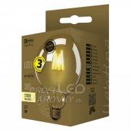 LED žiarovka Vintage G125 4W E27 tep...
