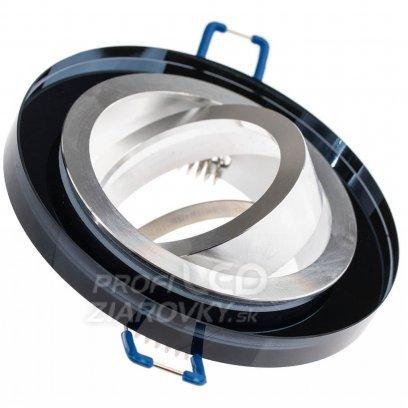 Podhľadové okrúhle svietidlo sklenené čierne ARIAN MR16 GU10