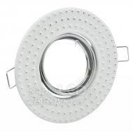Zapustené kovové stropné svietidlo Fobos 7807 Polux okrúhle biele + pätica MR16
