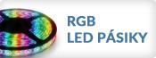 RGB LED pásiky