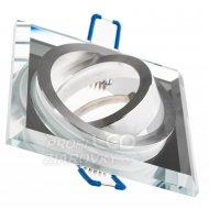 Podhľadové hranaté svietidlo sklenené priehľadné ARIAN MR16 GU10