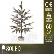 Umelý vianočný stromček led na batér...
