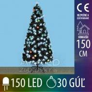 Umelý vianočný stromček led s optick...