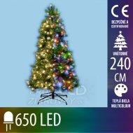 Umelý vianočný stromček s integrovan...
