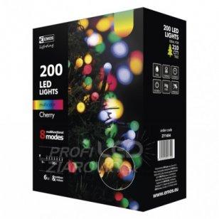 Led vianočná cherry reťaz – guľôčky, 20m, multicolor, progr.