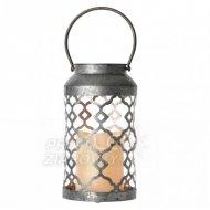 LED dekorácia – lampáš zdobený čiern...