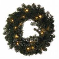 LED vianočný veniec, 40cm, 2× AA, vn...